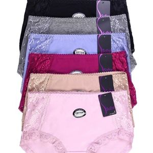 12 PAIRS   Sofra Cotton Brief Panty - LP1456CR